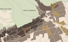 Carte parcelles vins Bourgogne Gevrey-Chambertin